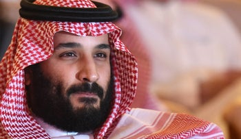 (FILES) This file photo taken on October 24, 2017 shows Saudi Crown Prince Mohammed bin Salman attending the Future Investment Initiative (FII) conference in Riyadh. The war of words between Saudi Arabia and Iran reflects a growing rivalry between the regional heavyweights, but experts believe the risk of a direct military clash between them is low. / AFP PHOTO / FAYEZ NURELDINE