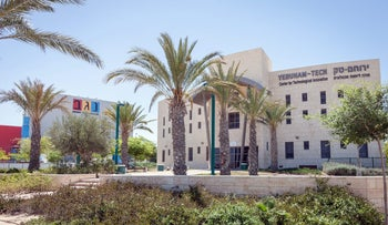 A science park and the Negev Ceramics factory in Yeruham.
