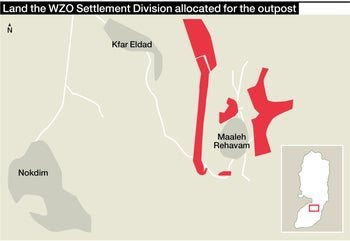 Land the WZO Settlement Division allocated for the outpost