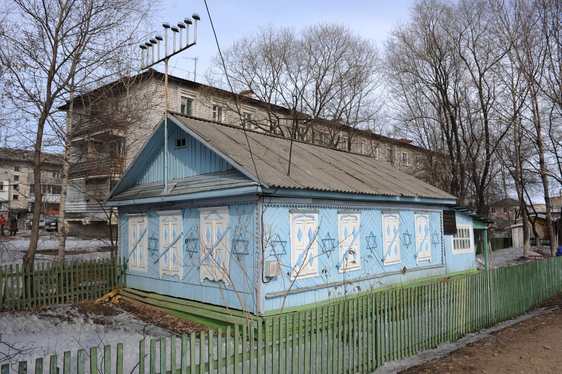 A synagogue is pictured in Birobidjan City, administrative center of the Jewish autonomous region, Russia.