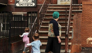 People from the Satmar Hasidic Jewish community are seen in the Brooklyn borough of New York City, U.S., August 15, 2017
