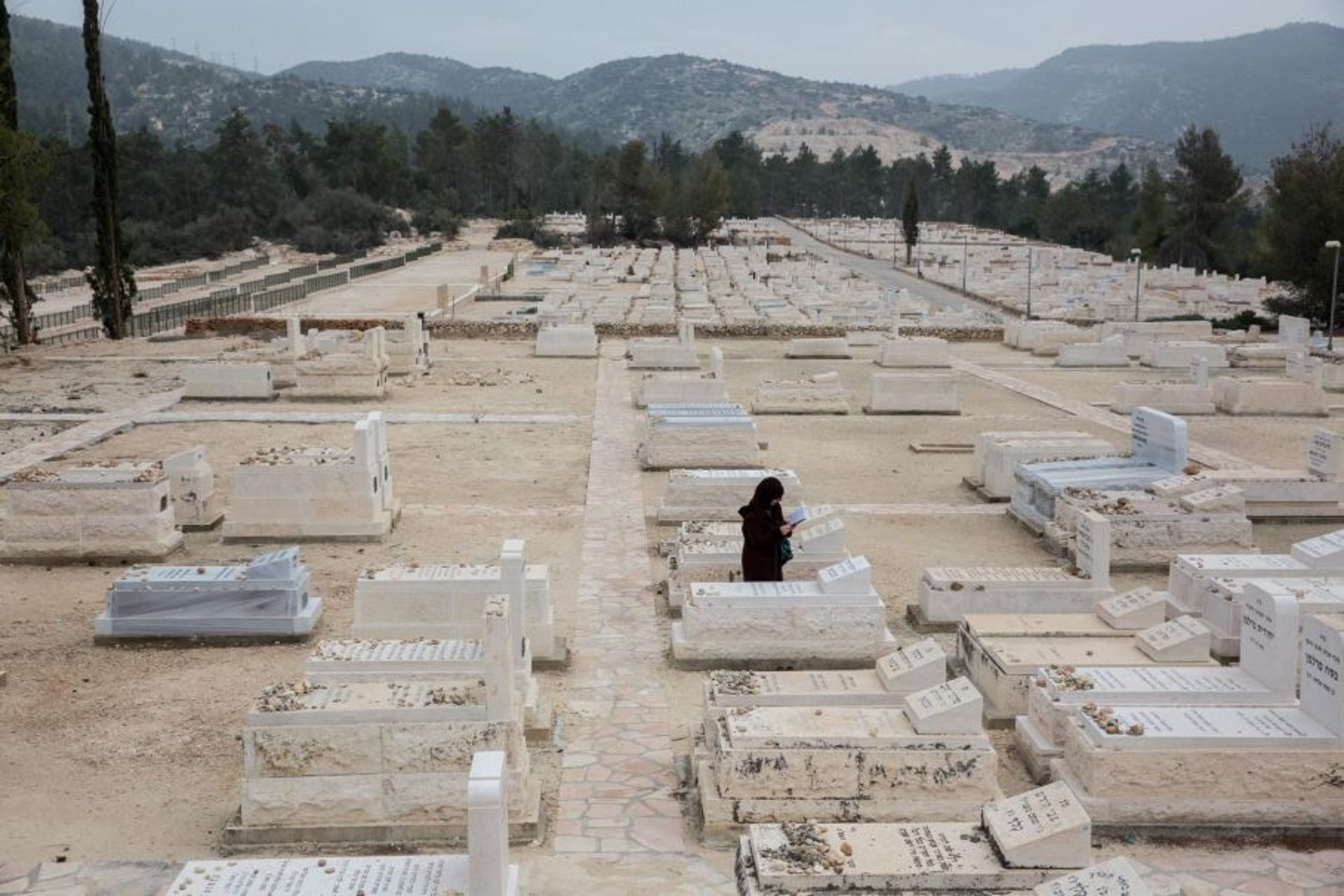 A Beit Shemesh cemetery where many Jews from abroad buy plots in advance, January 2017.