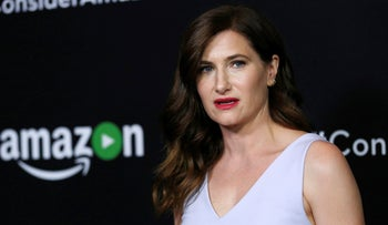 "Cast member Kathryn Hahn poses at a premiere screening for the television series ""Transparent"" at Directors Guild of America in Los Angeles, U.S., May 5, 2016."