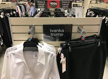Ivanka Trump-branded blouses and trousers are seen for sale at off-price retailer Winners in Toronto, Ontario, Canada February 3, 2017.