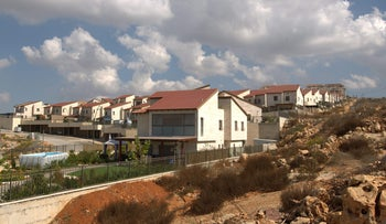 New homes in the West Bank settlement of Ariel.