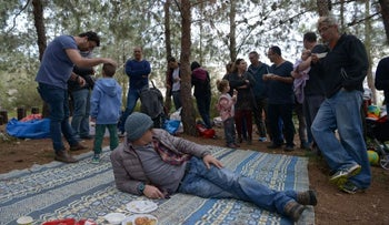 'New Likudniks on a picnic near Shimshit in northern Israel on February 4, 2017.