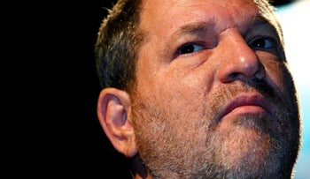 Harvey Weinstein attends the Middle East International Film Festival in Abu Dhabi, October 15, 2007.