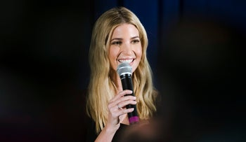 White House adviser Ivanka Trump speaks in Bayville, N.J., November 13, 2017.