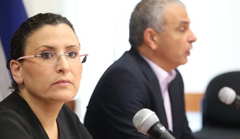 Then-Accountant General Michal Abadi-Boiangiu with Finance Minister Moshe Kahlon in 2014.