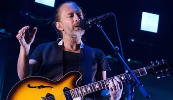 Radiohead singer Thom Yorke performing at Madison Square Garden in July 2016