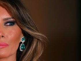First Lady Melania Trump and U.S. President Donald Trump (not pictured) attend the 60th Annual Red Cross Gala at Mar-a-Lago club in Palm Beach, Florida, U.S., February 4, 2017.