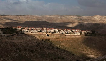 his Feb. 24, 2013 file photo shows a general view of the Jewish settlement of Maaleh Adumim, on the outskirts of Jerusalem.
