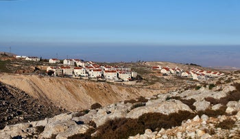 A general view taken on February 3, 2017 shows the Israeli settlement of Almon (Anatot), north of the Maale Adumim settlement, in the occupied West Bank, in the occupied West Bank.