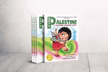 'P is for Palestine,' written by Golbarg Bashi and illustrated by Golrokh Nafisi.