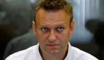 Russian anti-corruption campaigner and opposition figure Alexei Navalny attends a hearing at the Lublinsky district court in Moscow, Russia, August 1, 2016.