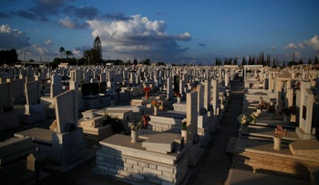 A cemetery in Israel, 2016.