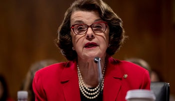 The Senate Judiciary Committee's ranking member Sen. Dianne Feinstein, D-Calif. speaks on Capitol Hill in Washington, Tuesday, Jan. 31, 2017, during the committee's business meeting to discuss the nomination of Attorney General-designate, Sen. Jeff Sessions, R-Ala.