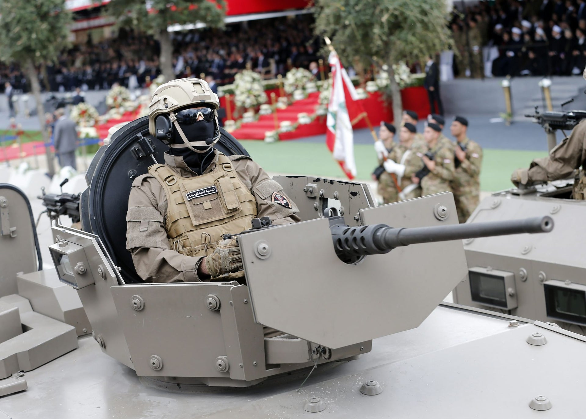 Lebanese armed forces take part in a military parade for Independence Day celebrations marking 74 years since the end of France's mandate in Lebanon, on November 22, 2017 in Beirut.