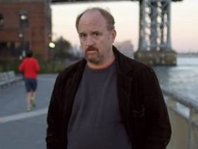 """Sarah Baker and Louis C.K. in the episode """"So Did the Fat Lady"""" from season 4 of 'Louie.'"""