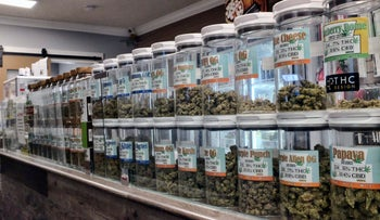 File photo: A medical marijuana dispensary in Los Angeles, Nov 3, 2017