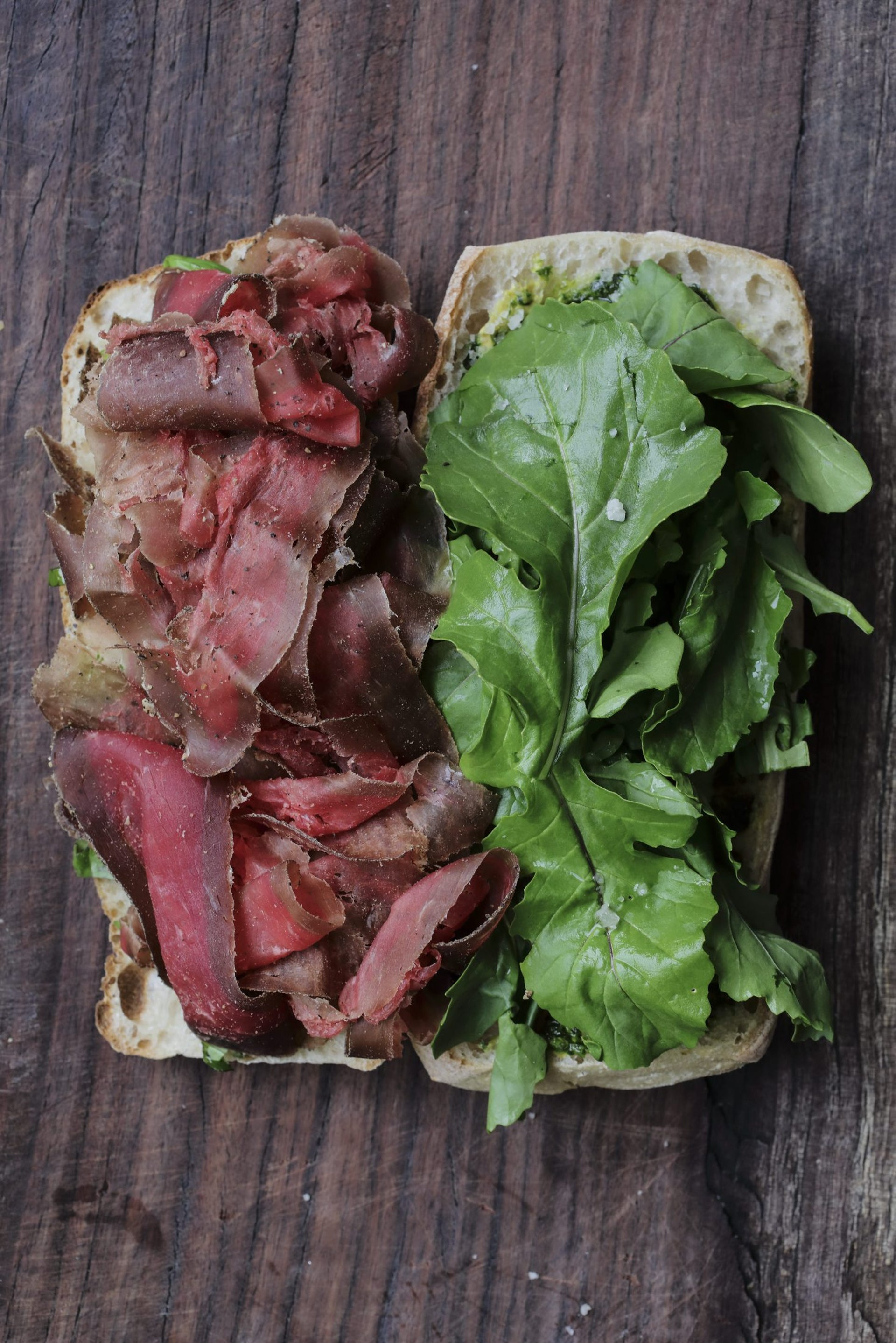 A bresaola sandwich at Tootsie Kitchen Delicatessan.