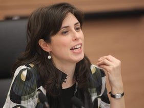 Tzipi Hotovely sit on a discussion with the Knesset Committee on the Status of Women in 2011