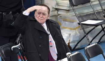 Sheldon Adelson at U.S. President Donald Trump's inauguration in Washington D.C.