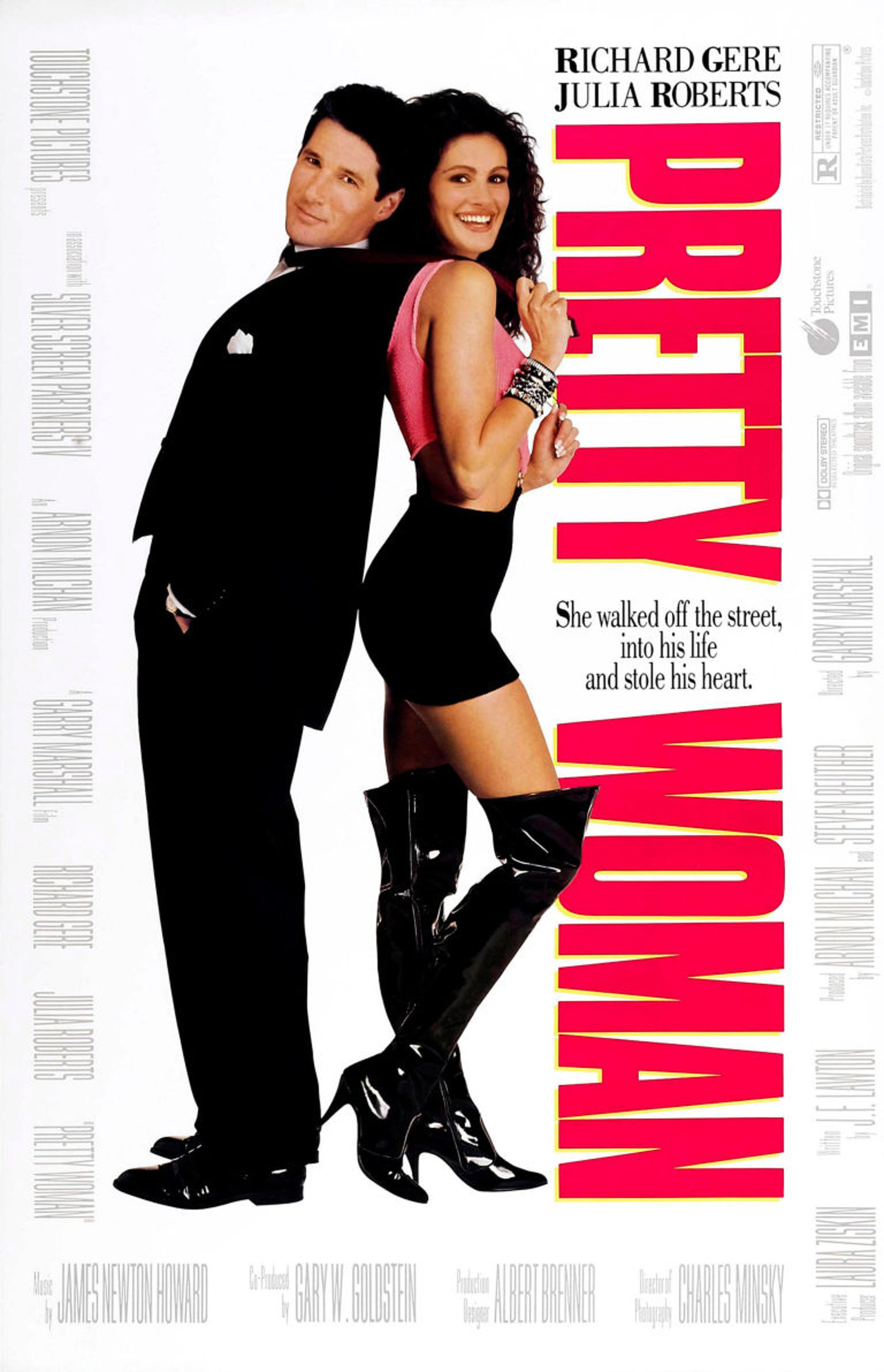 """The poster of """"Pretty Woman,"""" Milchan's first big success."""