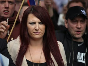 Jayda Fransen, the deputy leader of the far-right group Britain First, April 1, 2017.