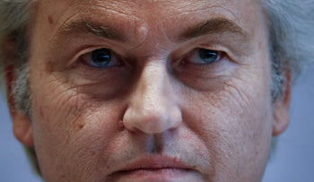 FILE PHOTO:Netherlands' Party for Freedom (PVV) leader Geert Wilders attends a news conference after a European far-right leaders meeting in Koblenz, Germany, January 21, 2017.