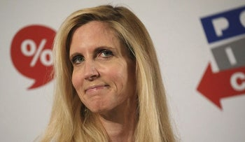 Author Ann Coulter listens during a panel discussion at the Politicon convention inside the Pasadena Convention Center in Pasadena, California, U.S., on Saturday, July 29, 2017