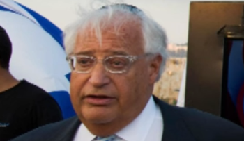 David Friedman, Donald Trump's designated Israel envoy.