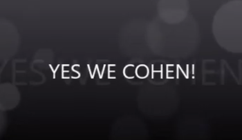 """A still from UJS head contender Annie Cohen's campaign video: """"Yes We Cohen!"""""""