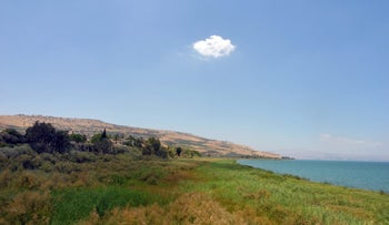 The Sea of Galilee: The inhabitants of Ohalo II lived on its shores 23,000 years ago, subsisting on hunting animals, fishing, gathering a ton of plants - and deliberately growing grain.