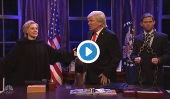 A Trump Christmas Carole: Flynn, Clinton and Putin visit an embattled Trump on 'SNL'