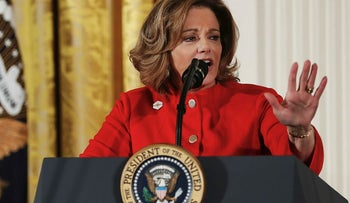 In this March 29, 2017, file photo, then-Deputy National Security Adviser K.T. McFarland speaks at the Women's Empowerment Panel, at the White House in Washington