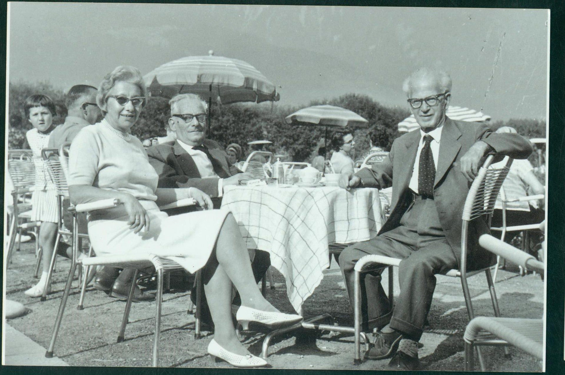 From right: Otto Hoffe, Max Brod and Esther Hoffe.