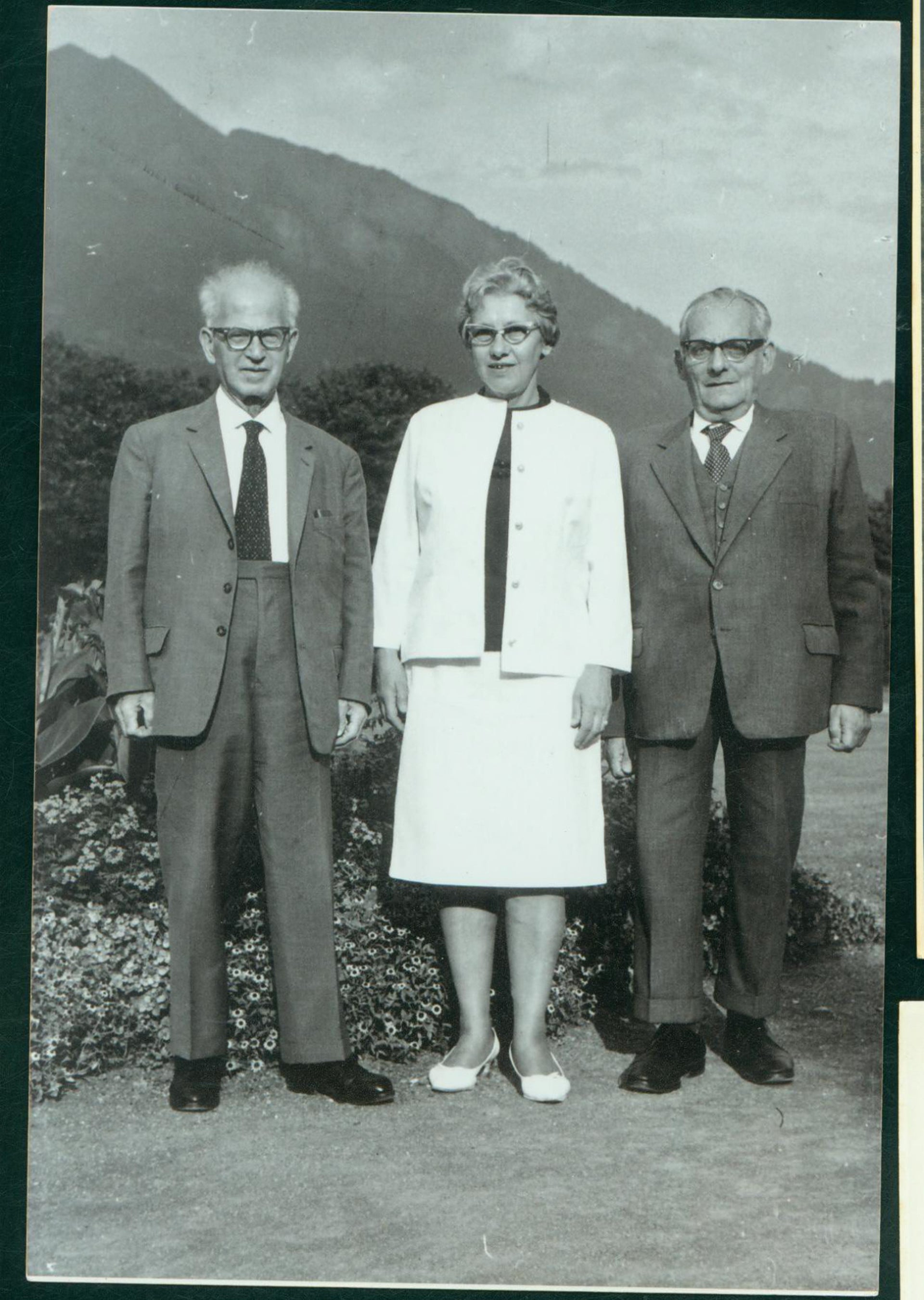 From left: Otto and Esther Hoffe and Max Brod.