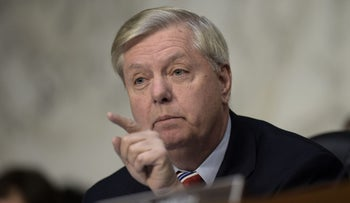 US Senator Lindsey Graham, who recommended U.S. dependents leave South Korea amidst provocation from North Korea, on March 20, 2017.