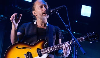 Thom Yorke from the band Radiohead performs at Madison Square Garden on Tuesday, July 26, 2016.