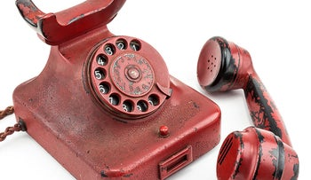 Adolf Hitler's personal traveling telephone.