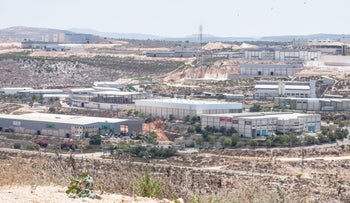 The Barkan industrial zone in the West Bank in 2013.