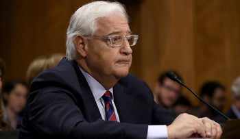 David Friedman testifies on his nomination to be the U.S. ambassador to Israel before the Senate Foreign Relations Committee, February 16, 2017.