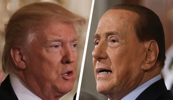 Donald Trump and  Silvio Berlusconi.