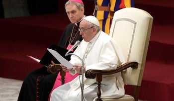 Pope Francis during his weekly general audience at the Vatican, Wednesday, Dec. 6, 2017
