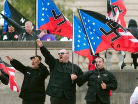 A neo-Nazi demonstration in Kentucky.