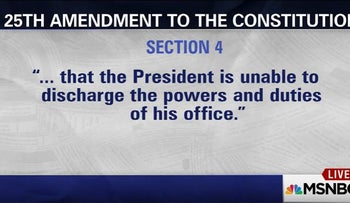 MSNBC's Lawrence O'Donnell discusses invoking 25th Amendment against Trump. February 21, 2017.