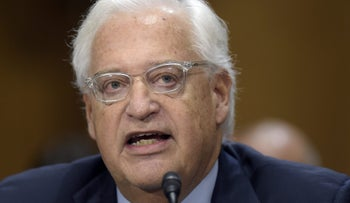 David Friedman appearing before the Senate Foreign Relations Committee, February 16, 2017.