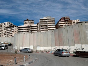 The Palestinian refugee camp of Shoafat in East Jerusalem, where tens of thousands of Palestinians live beyond the West Bank separation barrier, December 5, 2017.
