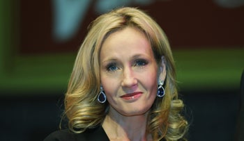File Photo: British author J.K. Rowling poses for photographers at the Southbank Centre in London on Sept. 27, 2012.